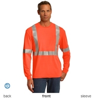CornerStone by Port Authority ANSI Compliant Safety Long Sleeve T-Shirts CS401LS. Embroidery available. Same Day Shipping available on blanks. Quantity Discounts. No Minimum Purchase Required.