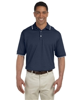 Devon & Jones D140 Men's Tipped Perfect Pima Interlock Polo Shirts