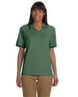 Devon & Jones D140W Ladies Perfect Pima Johnny Collar Polo Shirts