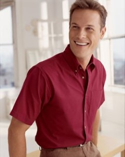 Devon & Jones Mens Short-Sleeve Titan Twill Shirts D500S. Embroidery available. Quantity Discounts. Same Day Shipping available on Blanks. No Minimum Purchase Required.