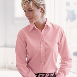 Devon & Jones Ladies Advantage Pima Twill Shirts D610W. Embroidery available. Quantity Discounts. No Minimum Purchase Required.