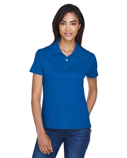 Devon & Jones DG200W Ladies' Pima Tech Jet Pique Short Sleeve Polo Shirts