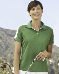 Devon & Jones Dri-Fast Ladies Mesh Polo Shirts DG375W. Embroidery available. Quantity Discounts. Same Day Shipping available on Blanks. No Minimum Purchase Required.