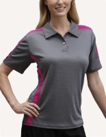 Pro Celebrity K268GP Womens Sliders TITAN Moisture Management Polo Shirts