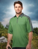 Tri-Mountain K414 Mens Camino Jacquard Knit 1/4 Zip Polo Shirts