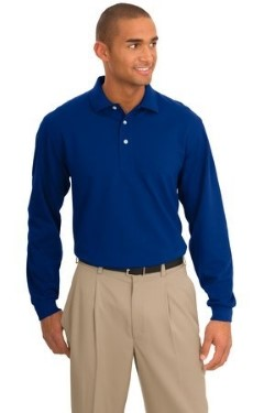 Port Authority Signature K455LS Mens Rapid Dry Long Sleeve Polo Shirts