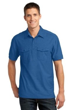 Port Authority Oxford Pique Double Pocket Polo K557