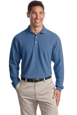 Port Authority K800LS Long Sleeve EZCotton Pique Sport Shirts. Up to 25% Off. Free Shipping available.