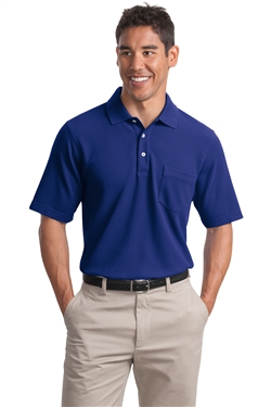 Port Authority K800P EZCotton Pique Pocket Polo Shirts