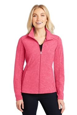 Port Authority L235 Ladies Heather Microfleece Full-Zip Jackets