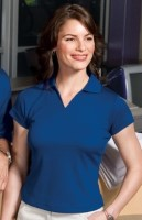 Sport-Tek Ladies Dri-Mesh™ V-Neck Sport Shirts L469. Embroidery available. Quantity Discounts. Same Day Shipping available on Blanks. No Minimum Purchase Required.