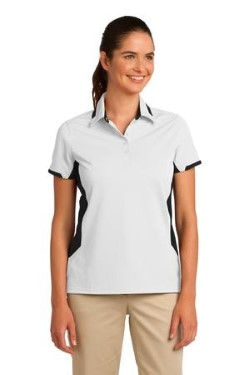 Port Authority® L524 Ladies Dry Zone™ Colorblock Ottoman Polo Shirt