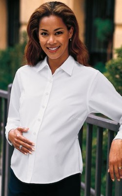 Port Authority Ladies Maternity Easy Care Shirts L608M. Embroidery available. Same Day Shipping available on blanks. Quantity Discounts. No Minimum Purchase Required.