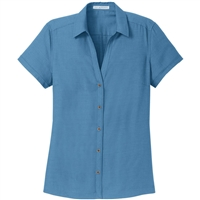 Port Authority Ladies Textured Camp Shirts L622.