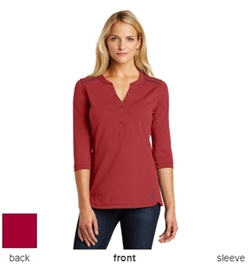 OGIO® Ladies Fuse Henley Polo Shirts LOG132