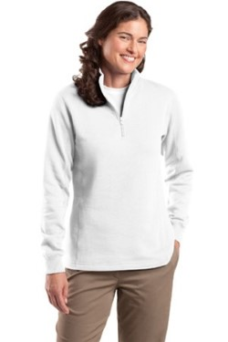 Sport-Tek LST253 Womens Colorfast 1/4-Zip Sweatshirt. Up to 25% off. Free shipping available. 30 Day Return Policy.
