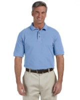 Harriton M200 Men's 6 oz. Ringspun Cotton Piqué Short-Sleeve Polo Shirt