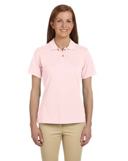 Harriton Ladies' 6 oz. Ringspun Cotton Piqué Short-Sleeve Polo M200W