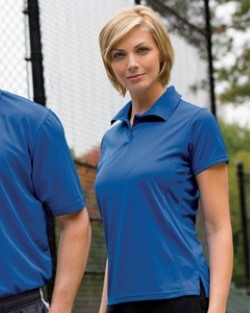 Harriton M315W Womens Poly Tech Polo Shirts