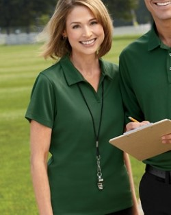 Harriton M353W Womens Double Mesh Polo Shirts