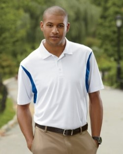 Harriton M356 Mens Back Blocked Micro-Pique Polo Shirts