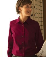 Harriton Womens Stain Release Twill Shirts M500W. Embroidery available. Quantity Discounts. Same Day Shipping available on Blanks. No Minimum Purchase Required.