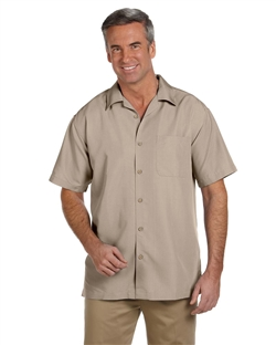 Harriton M560 Men's Barbados Textured Camp Shirts