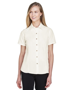 Harriton M560W Women's Barbados Textured Camp Shirts