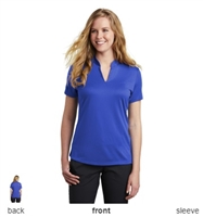 Nike Golf NKAA1848 Dri-FIT Ladies Hex Textured V-Neck Polo Shirts