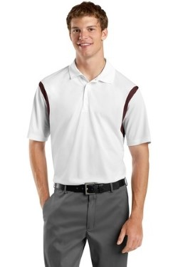 Sport-Tek ST656 Mens Back Blocked Micropique Sport-Wick Polo Shirts