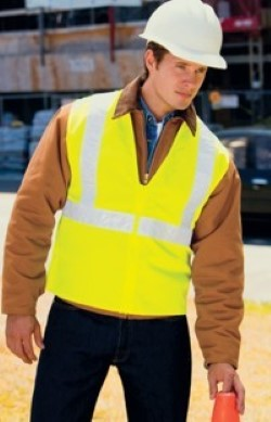 Port Authority 100% Polyester Safety Vests SV01. Embroidery available. Same Day Shipping available on blanks. Quantity Discounts. No Minimum Purchase Required.
