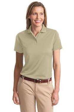 Navy Port Authority Bamboo Blend Pique Sport Shirt
