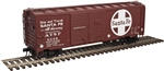 Santa Fe_SF_Atlas 40' AAR Double Door Steel Boxcar_3001823_3Rail