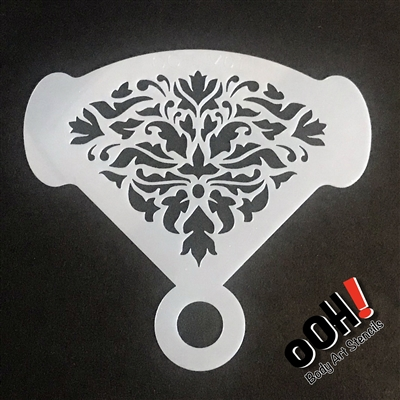 OOH! Damask Mirror Face Painting Stencil