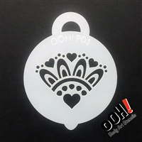OOH! Heart Cluster Petite Stencil