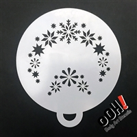 OOH! Snowflake Flips Face Painting Stencil 1