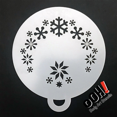 OOH! Snowflake Flips Face Painting Stencil 2