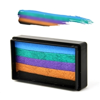 Peacock Arty Brush Cake
