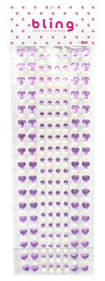 Purple Crystal Heart and Pearl Bling Bag (272pc)