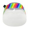 Silly Farm PPE Rainbow Striped Shield
