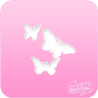 3 Butterflies Pink Power Stencil