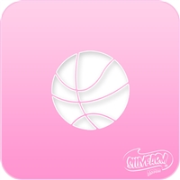 Basketball Pink Power Stencil
