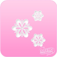 Fancy Daisies Pink Power Stencil