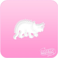 Triceratops Pink Power Stencil