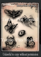 Wiser Pro Tattoo Stencils-- Butterflies and Bugs