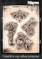 Wiser Pro Tattoo Stencils-- Fancy Filigree