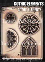 Wiser Pro Tattoo Stencils-- Gothic Elements