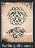 Wiser Pro Tattoo Stencils-- Lace and Pearls