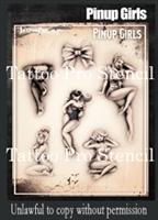 Wiser Pro Tattoo Stencils-- Pinup Girls