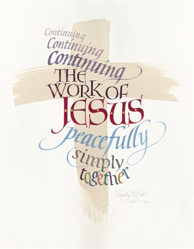 continuing the work of jesus poster